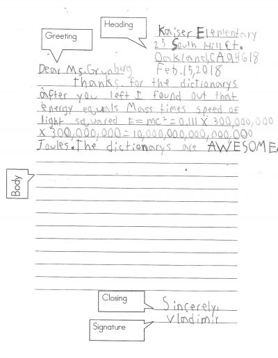 Dictionary Day Thank You Letters From Students 1