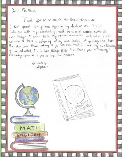 Dictionary Day Thank You Letters From Students 3